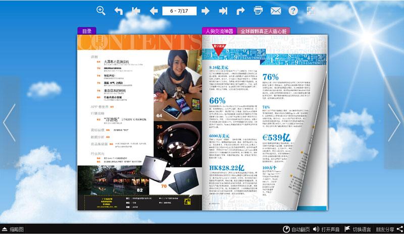 消费电子电子杂志 翻页电子书制作软件